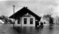 Mississippi river flood at New Madrid, Missouri, 1913