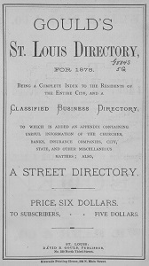Gould's St. Louis Directory, for 1878