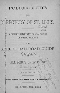Police Guide and Directory of St. Louis