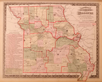 Campbell's Political Map of Missouri