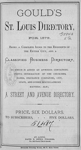 Gould's St. Louis Directory, for 1879