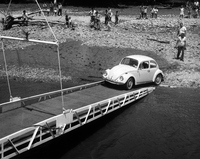 Captains VW goes ashore