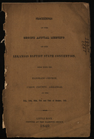 Proceedings of the Second Annual Meeting of the Arkansas Baptist State Convention