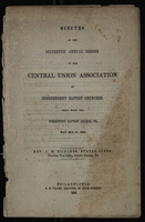 Minutes of the Sixteenth Annual Session of the Central Union Association of Independent Baptist Churches