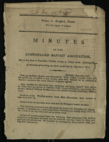 Minutes of the Cumberland Baptist Association