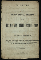 Minutes of the Third Annual Meeting of the Des Moines River Association of Regular Baptists
