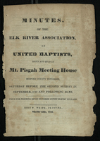 Minutes of the Elk River Association of United Baptists