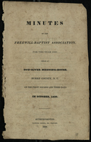 Minutes of the Freewill-Baptist Association for the Year 1830