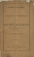 Sixteenth Annual Report of the Board of Directors of the Pacific Railroad