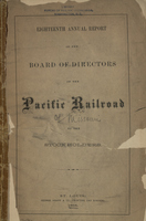 Eighteenth Annual Report of the Board of Directors of the Pacific Railroad of Missouri