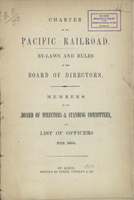 Charter of the Pacific Railroad