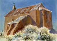 Untitled Western Landscape with Church