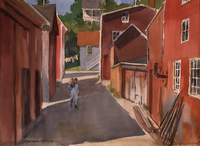Lunenburg:  Study in Red
