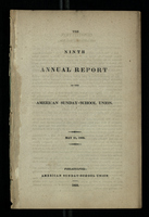 The Ninth Annual Report of the American Sunday School Union