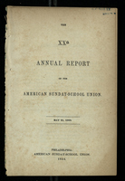 XXth (20th) Annual Report of the American Sunday-School Union