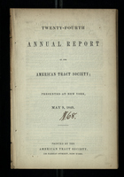 Twenty-Fourth Annual Report of the American Tract Society