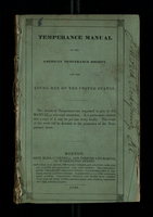 Temperance Manual of the American Temperance Society for the Young Men of the United States