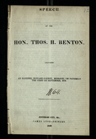 Speech of the Hon. Thos. H. Benton