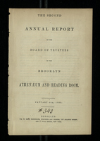 The Second Annual Report of the Board of Trustees of the Brooklyn Athenaeum and Reading Room