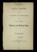 The Fourth Annual Report of the Board of Trustees of the Brooklyn Athenaeum and Reading Room