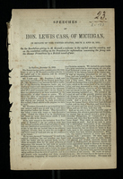 Speeches of Hon. Lewis Cass, of Michigan, in Senate of the United States, Dec'r 11 and 12, 1851