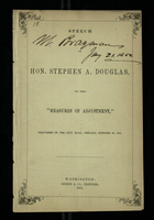 "Speech of Hon. Stephen A. Douglas, on the ""Measures of Adjustment"""