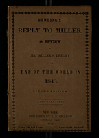 Dowling's Reply to Miller, A Review of Mr. Miller's Theory of the End of the World in 1843.