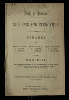 Right of Petition. New England Clergymen.