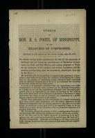 Speech of Hon. H. S. Foote, of Mississippi, on the Measures of Compromise