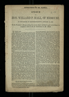 Speech of Hon. Willard P. Hall, of Missouri, in the House of Representatives, January 19, 1848