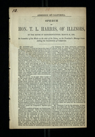 Speech of Hon. T. L. Harris, of Illinois, in the House of Representatives, March 25, 1850