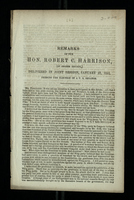 Remarks of the Hon. Robert C. Harrison, (of Cooper County) Delivered in Joint Session, January 27, 1855