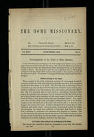 The Home Missionary, Vol. XXV. No. 7. November, 1852.