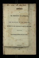 Letter of Mr. Johnston, of Louisiana, to the Secretary of the Treasury