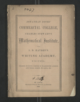 Jonathan Jones' Commercial College, Charles Stewart's Mathematical Institute, and S. D. Hayden's Writing Academy, United