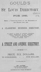 Gould's St. Louis Directory, for 1881