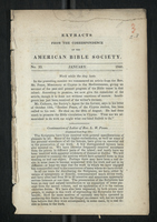 Extracts from the Correspondence of the American Bible Society