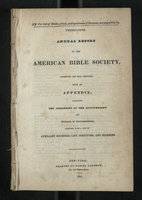 Twenty-Fifth Annual Report of the American Bible Society