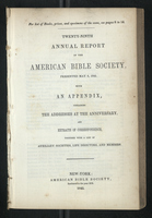 Twenty-Ninth Annual Report of the American Bible Society