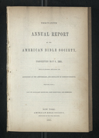 Thirty-Fifth Annual Report of the American Bible Society