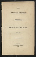 Tenth Annual Report of the Directors of the American Education Society