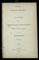 Seventeenth Annual Report of the Directors of the American Education Society