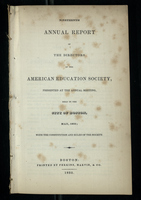 Nineteenth Annual Report of the Directors of the American Education Society