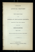 Twenty-Fifth Annual Report of the Directors of the American Education Society
