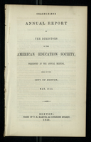 Twenty-Ninth Annual Report of the Directors of the American Education Society