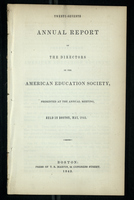 Twenty-Seventh Annual Report of the Directors of the American Education Society