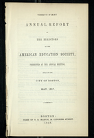 Thirty-First Annual Report of the Directors of the American Education Society