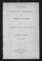 Twenty-Sixth Annual Report of the American Society for Colonizing the Free People of Color of the United States