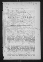 Twenty-Seventh Annual Report of the American Colonization Society