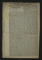 Latter Day Saints' Messenger and Advocate. Vol. 1. No. 2. Kirtland, Ohio, November, 1834. Whole No. 2